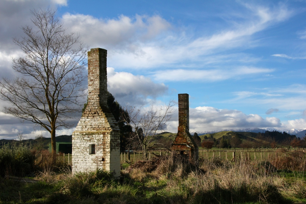 The remains of a long forgotten cottage in the Rangitikei