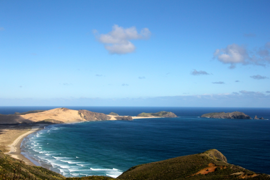 This is Cape Maria Van Diemen. She was the wife of Abel Tasman's boss. He must have liked her. The North Western most Point of New Zealand