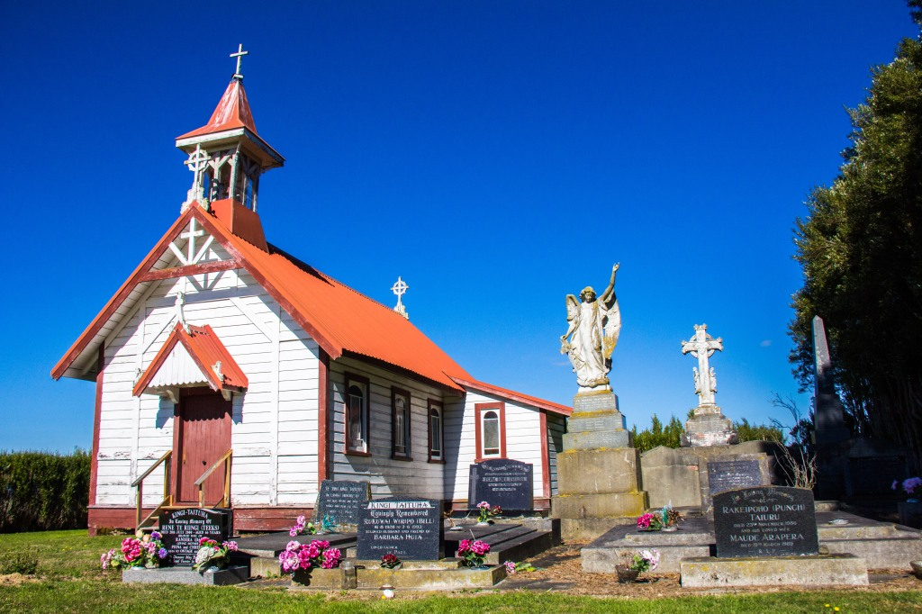 The Rata Church which is beside the Marae, or behind it depending on where you stand.