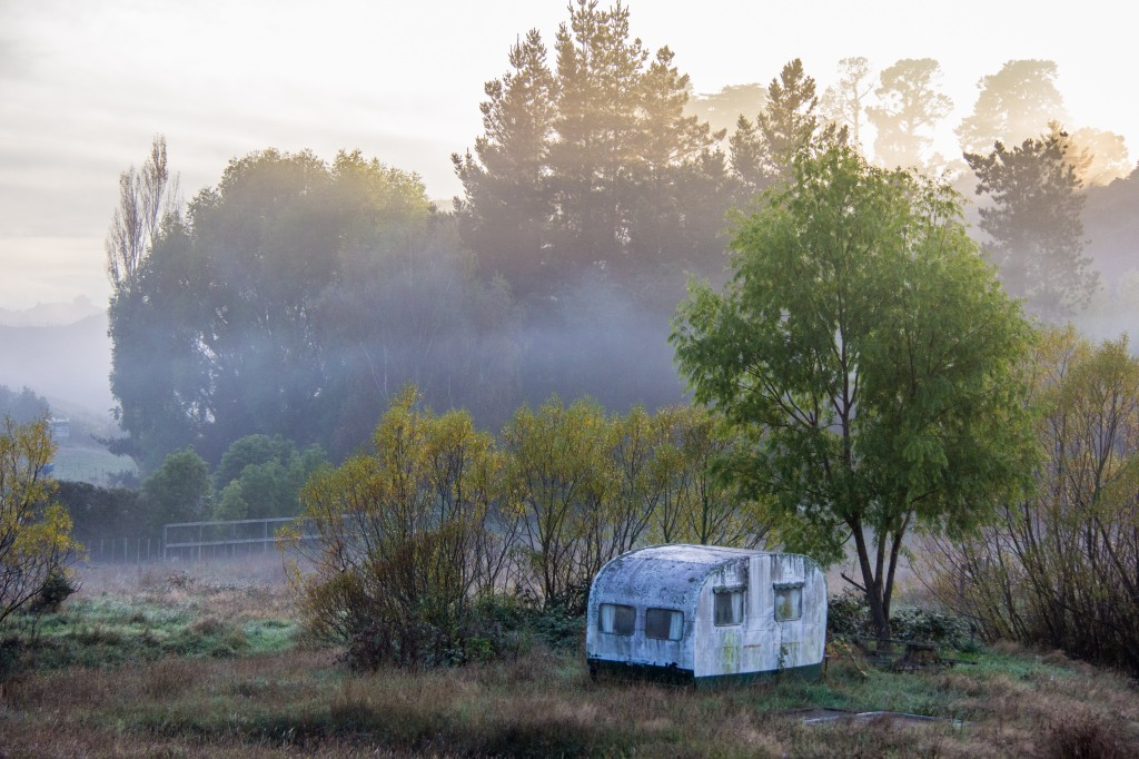 Misty Morning in Hunterville. I'll give the caravanning a miss this year.