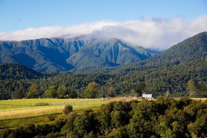 Low cloud on the Ruahine Ranges.