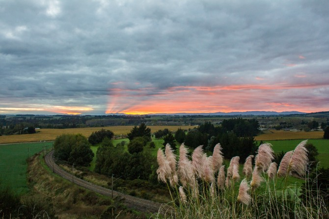 Day Breaking in the Manawatu. Love how the sun strikes over the distant ranges. You have to get up early for this stuff.