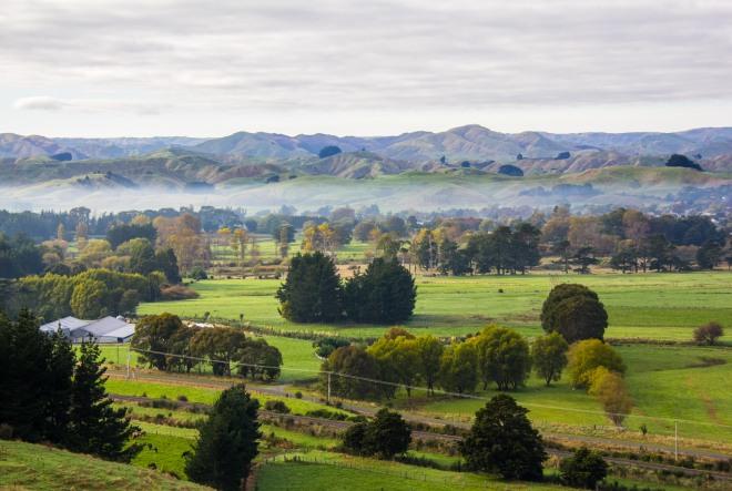 Low cloud in the Wairarapa. Near Pahiatua. Autumnal.