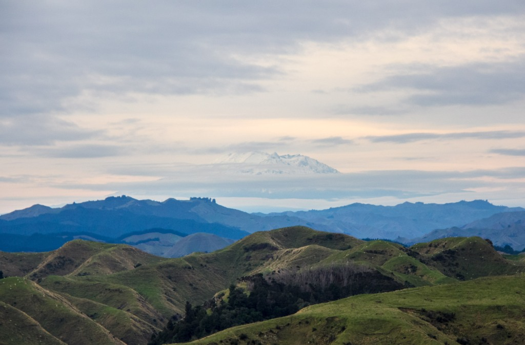 There's Mt Ruapehu again. From about 150 kilometres away. It's awesome.