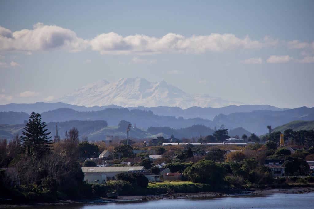 Mt Ruapehu again, from Wanganui, or Whanganui if you prefer