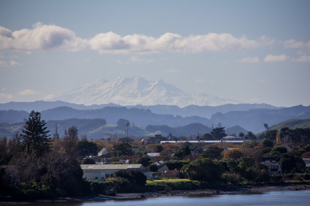 Mt Ruapehu again, from Wanganui, or Whanganui if you prefer