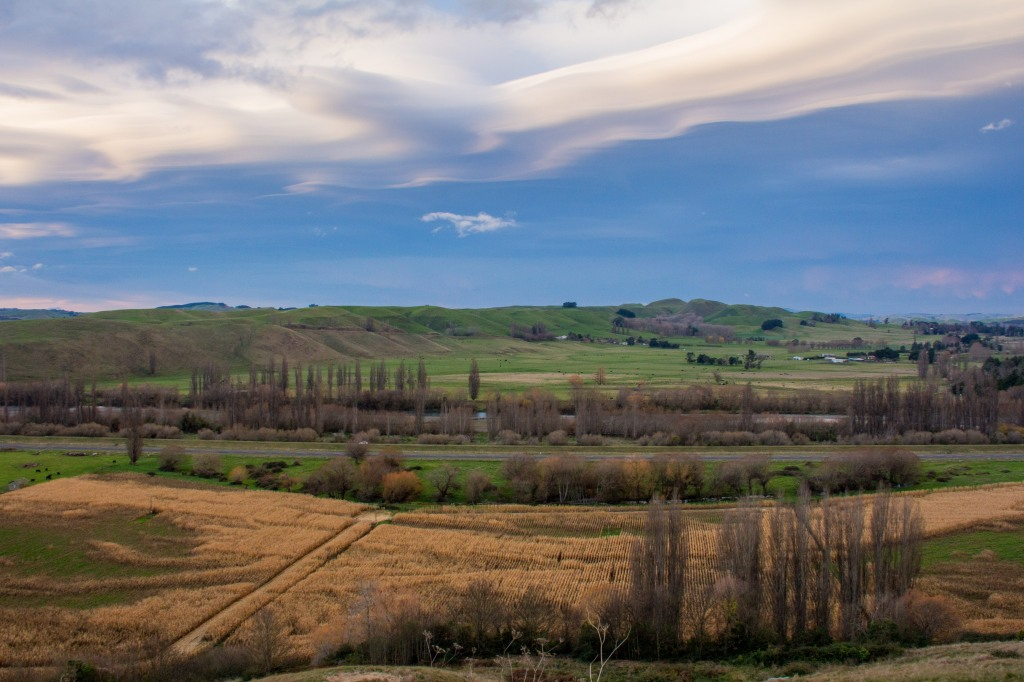 Southern Central Hawkes Bay, the day before the 'great flood' turned up in other parts of the country. Waipukurau, the nearest town to here was unaffected. The clouds were weird throughout Hawkes Bay that day
