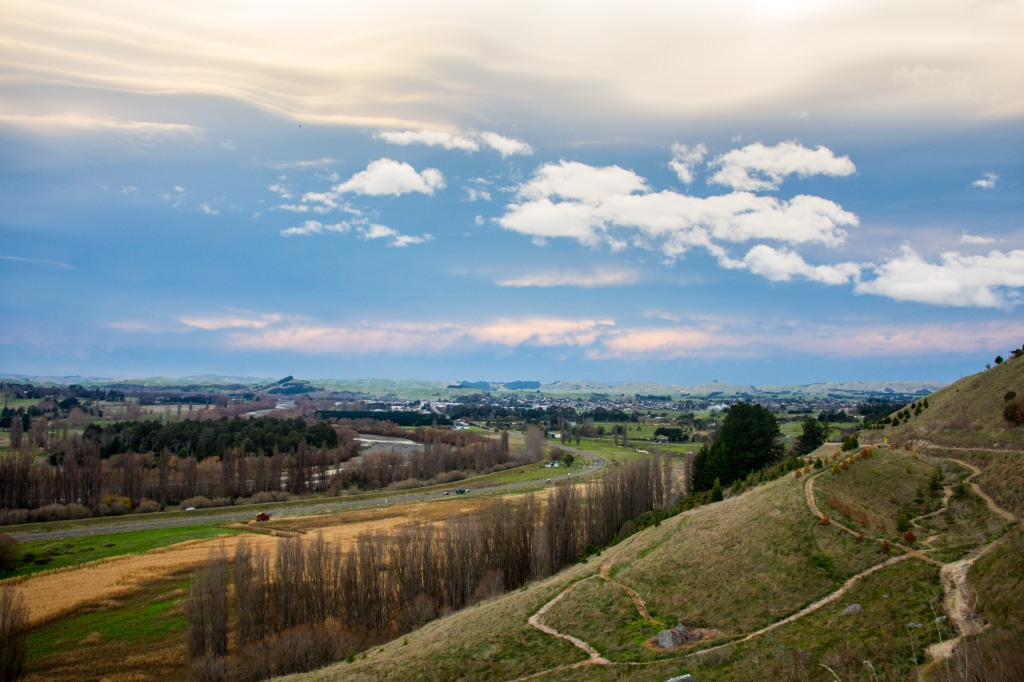Looking North-East across Waipukurau in Southern Central Hawkes Bay. Storm brewing, but not here.