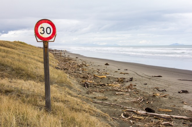 That's a road, there's a speed limit, see?