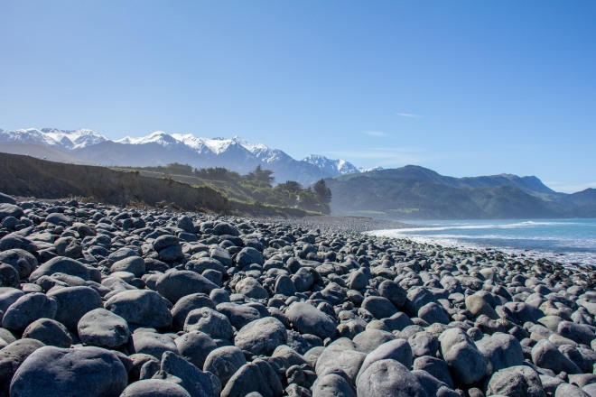 Rocky Beach, Kaikoura. It's not the name of the beach, merely an observation.