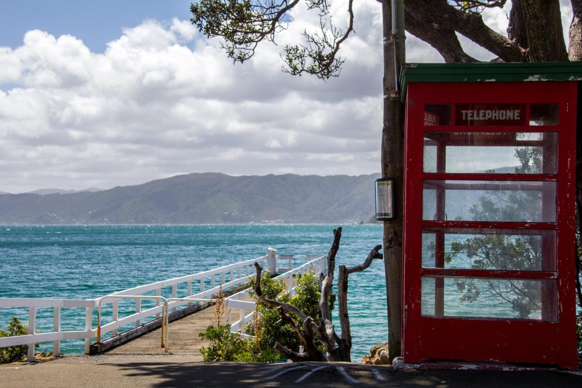 Karaka Bay phone box