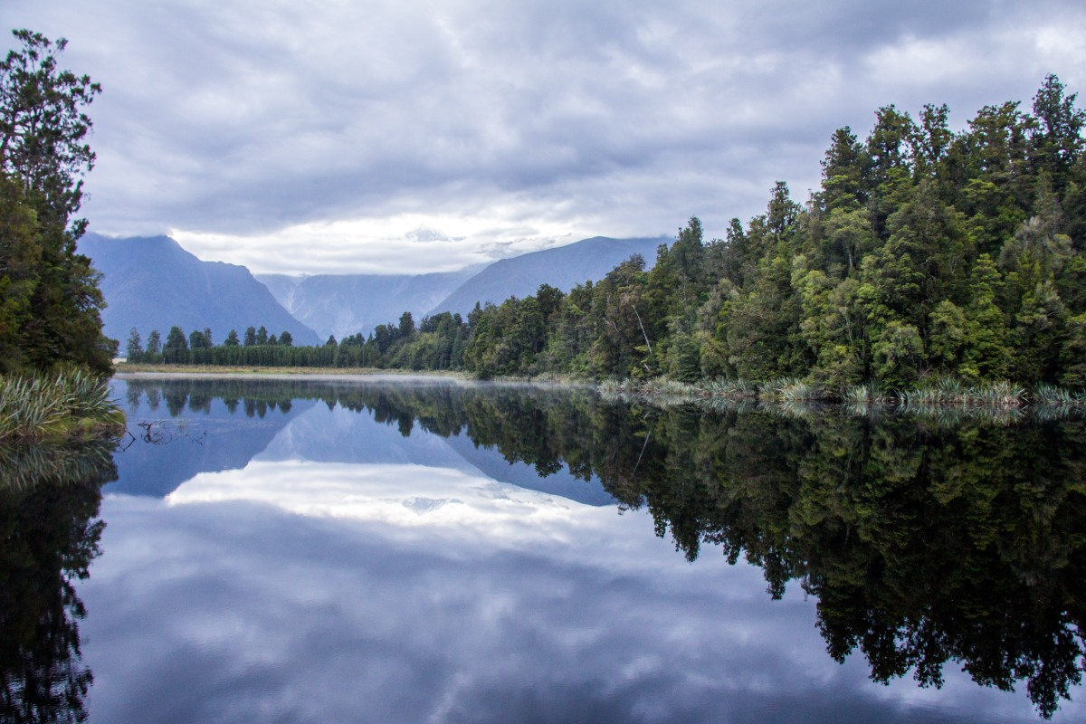 Lake Matheson Reflection Island