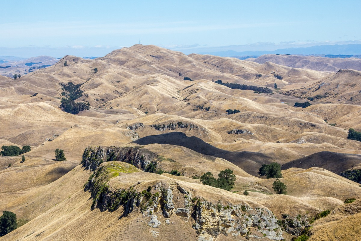 Hawkes Bay from Te Mata shadow