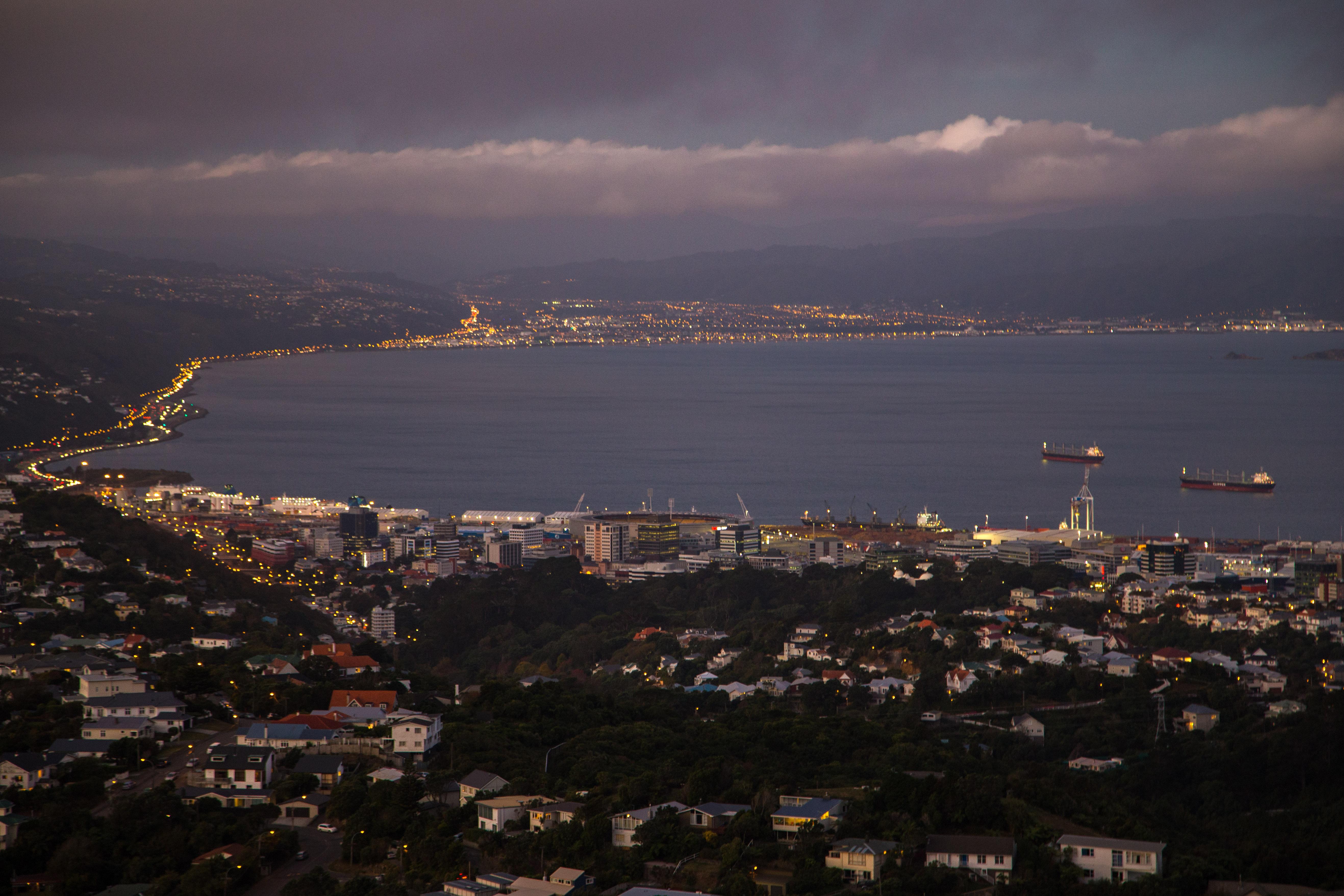 Wellington evening long exposure