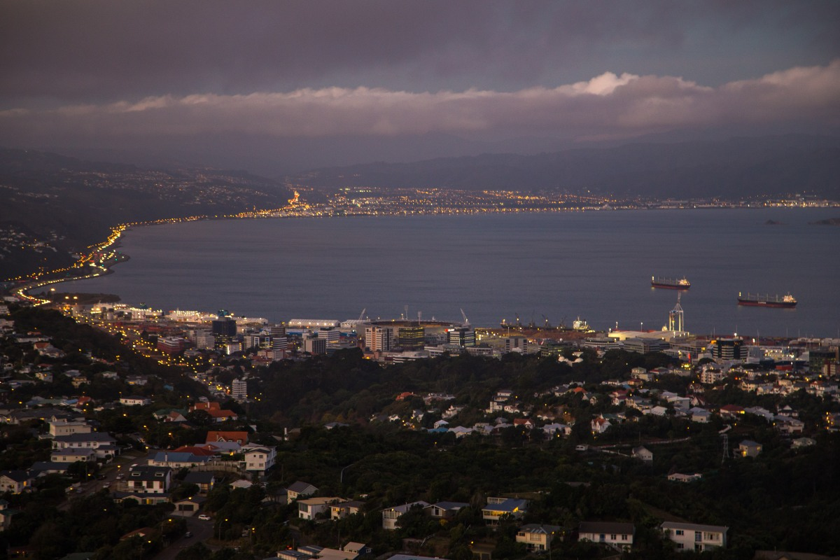Wellington evening long exposure