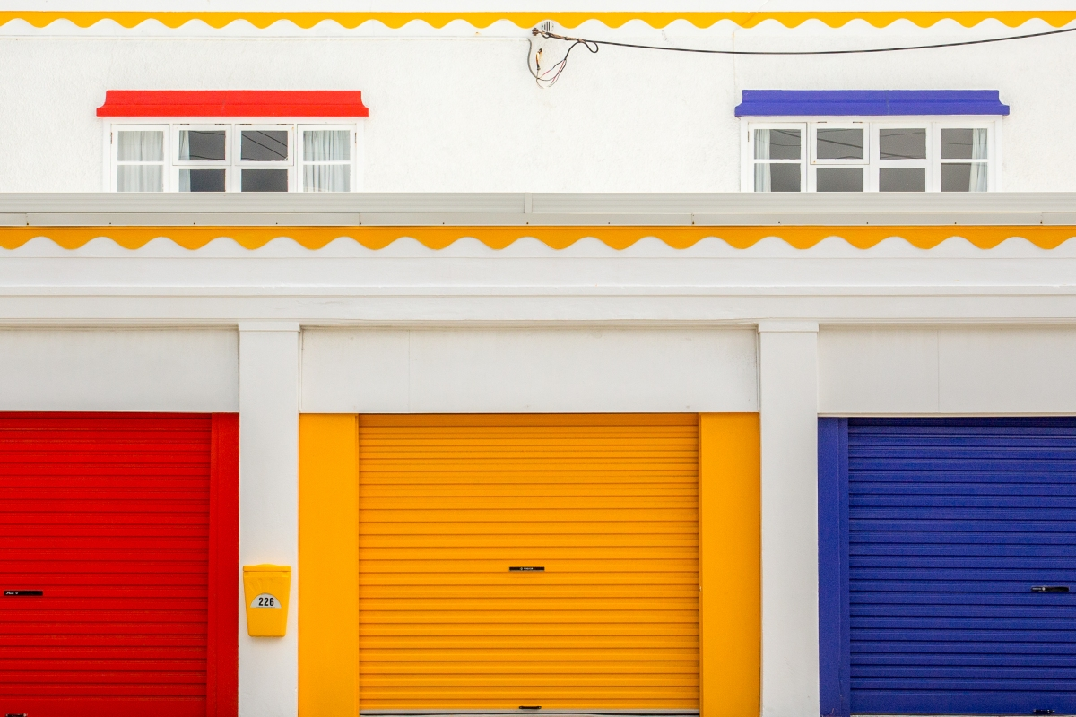 Colourful garages 1