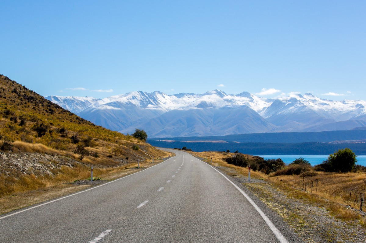 Pukaki shore road